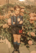 Jonathan in Inter Milan kit which Chelsea wore in the 1966 FA Cup Semi Final at Aston villa v Sheffield Wednesday