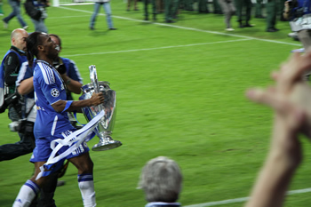 Didier with the cup